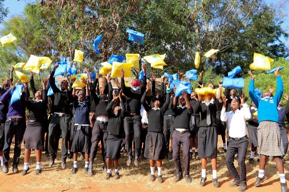 School-going children in Makueni benefit from dignity packs
